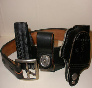 Size 34 Vintage Jay pee Police Leather Belt With Attachments
