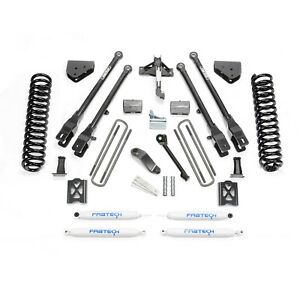 Fabtech K2013 6 4 Link System W Performance Shocks For 2005 2007 Ford F250 4wd