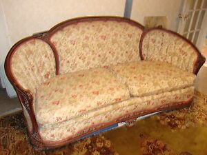Antique Couch Matching Chair Beautiful Take A Look