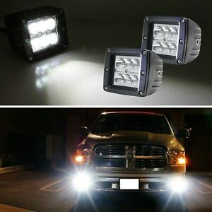 3 2x3 24w High Power Cree Led Pod Lights For Truck Jeep Off road Atv 4wd 4x4