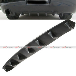 Universal Lower Rear Body Bumper Diffuser Shark Fin Kit Pu Spoiler Black