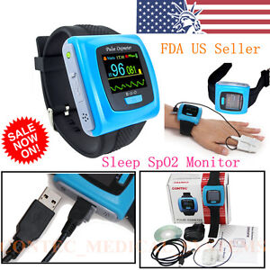 Wrist Fingertip Pulse Oximeter Spo2 Blood Oxygen Heart Rate Monitor alarm usb sw