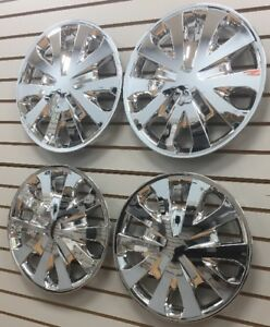 15 Hubcaps Wheelcovers Fit 2012 2017 Nissan Versa Chrome Set Of 4 New Am