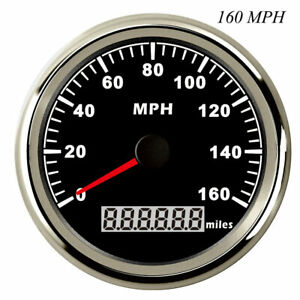 85mm Black Gps Speedometer Gauge 0 160mph For Car Truck Motorcycle Atv Us Stock