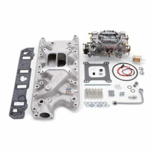 Edelbrock 2031 Single Quad Manifold And Carb Kit For Small Block Ford 260 302ci