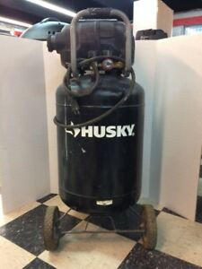 Husky Portable Air Compressor 20 Gal Quiet Rolling Wheels Spray Pain ppj000010