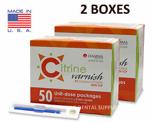 Citrine 5 Sodium Fluoride Varnish Bubble Gum 0 4ml 100 Unit dose Packs Dental