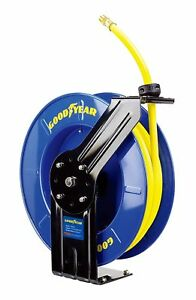 Goodyear Steel Retractable Air Compressor water Hose Reel multi spec size