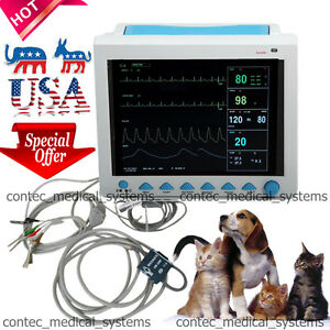 Cotnec Animal Icu Machine Vet Veterinary Patient Monitor Vital Signs 6 Parameter