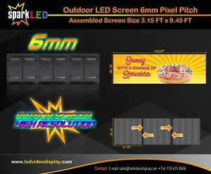 Outdoor Led Sign P6 3 15 x9 45 Full color Single sided Digital Display