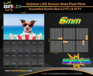 Outdoor Led Digital Sign P6 6 3 X 9 45 Full color Single sided Display