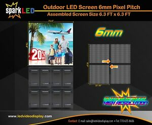 Outdoor Led Sign P6 6 x6 Full color Single sided Programmable Digital Display