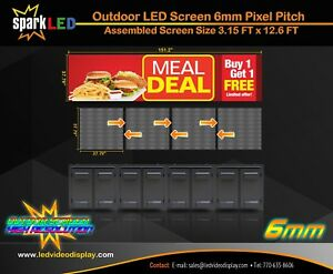 Outdoor Led Sign P6 3 x12 Full color Single sided Programmable Digital Display