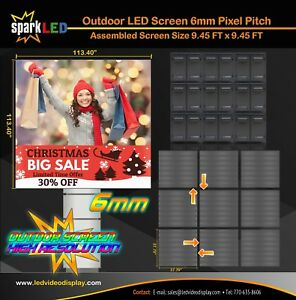 Outdoor Led Sign P6 9 45 x9 45 Full color Single sided Digital Display