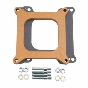 Edelbrock 8724 Carb Spacer Wood 4150 Series 1 2 Thick Carburetor Fits Holley