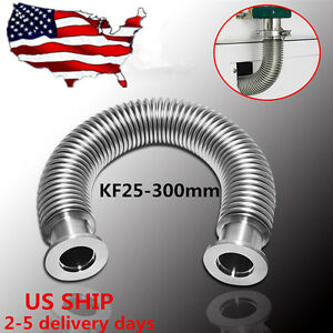 Bellows Hose Metal Kf 25 11 8 Inch Tubing 300mm iso kf Flange Size Nw 25 Usa