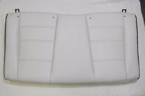 1999 2004 Mustang Convertible Rear Seat Back Upper White Leather