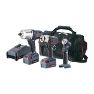Ingersoll Rand Iqv20 3022 3 Piece 20v 3 8 1 2 Impact Wrench Kit Task Light