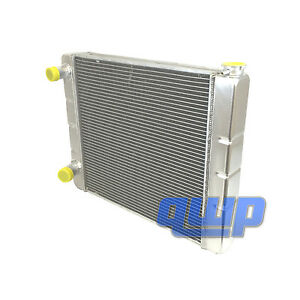Ford Mopar Universal Racing Aluminum Radiator 2 Row Double Pass 24 X19 X3