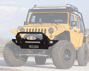 Body Armor Front Mid Stubby Pro Series Bumper And Bumper Wings For Jeep Wrangler