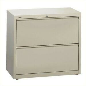Hirsh Hl10000 Series 30 2 Drawer Lateral File Cabinet In Putty