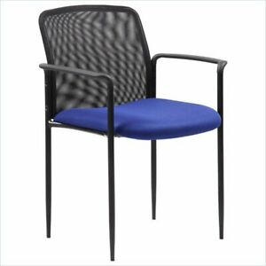 Boss Office Stackable Mesh Guest Chair In Blue