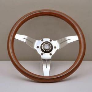 Nardi Rally Deep Corn 330mm Mahogany Wood Steering Wheel Polished 5069 33 3000