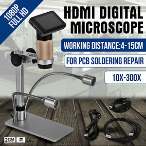 Hdmi Digital Microscope For Pcb Repair Adsm201 3mp 10x 300x Magnification 1080p