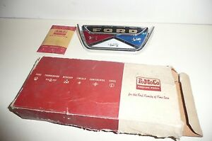 60 61 Ford Falcon Trunk Lid Ornament Nos 1960 1961 Luggage Compartment Emblem