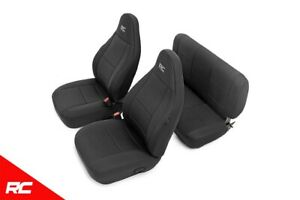 Rough Country Neoprene Seat Covers Black Set Fits 1997 2002 Jeep Wrangler Tj