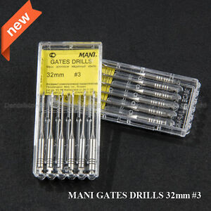 10pks Dental Gates Glidden Drill 32mm 3 Mani Endodontic Root Canal Instrument