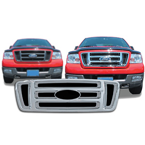 Free Shipping 2004 2008 Ford F150 Chrome Snap On Grille Overlay 18