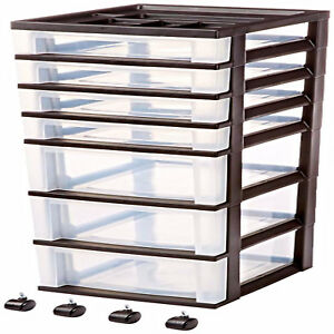 Rolling Storage Organizer Drawer Cart Display Containers Cabinet Rack Office New