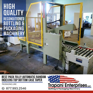 Best Pack Automatic Indexing Top Bottom Case Taper Box Taper Taping Machine