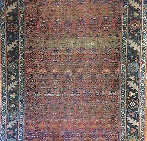 Beautiful Bijar 1880s Antique Kurdish Runner Persian Rug 4 6 X 11 Ft