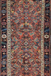 Beautiful Bijar 1900s Antique Kurdish Runner Persian Tribal Rug 3 4 X 11 3