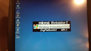 Micros Workstation 5 System Unit Stand 400814 001 Touch Screen Embedded Ce 6 0