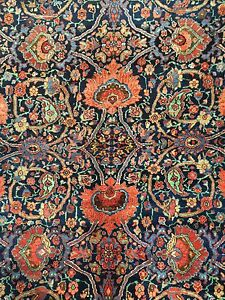 Heavenly Halvai 1900s Antique Persian Bijar Rug Oriental Carpet 8 2 X 13 2