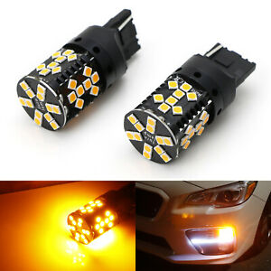 No Hyper Flash 25w Amber 7440 Canbus Led Bulbs For Front rear Turn Signal Light