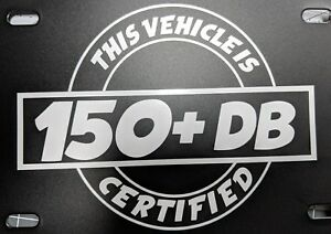 150 Db Certified Decal Sticker Dc Audio Sterio 16 Different Colors Available 7