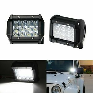 2 White 36w High Power Led Pod Lights For Truck Suv Jeep Off road Atv 4x4 Etc