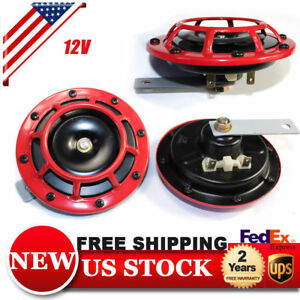 12v Loud Auto Car Truck Dual Tone Electric Air Snail Horns Sound 110db Universal