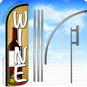 Wine Windless Swooper Flag 15 Kit Feather Winery Banner Sign Yq