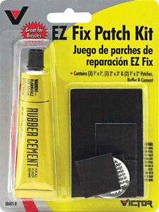 New Victor Ez Fix Rubber Patch Kit For All Rubber Repairs 8 Pc Kit Tire Repair