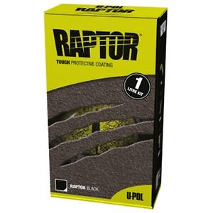 Upol Raptor Bed Liner And Protective Coating Kit Black One Quart Up4801