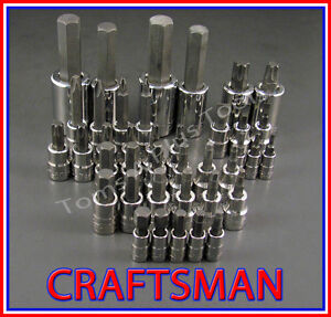 Craftsman 39pc 1 4 3 8 1 2 Torx hex screwdriver Bit Ratchet Wrench Socket Set