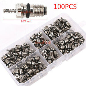 100pcs Auto Air Conditioning Repair Tool For R134a High Pressure Valve Core