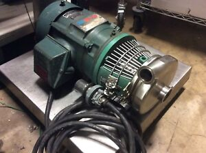 Tri clover C216md18t s Stainless Steel Tri flo Pump 3hp 230 460v