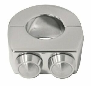 Minimalistic Chrome Plated Custom billet switch Clamp for 1quot; handlebar $47.25