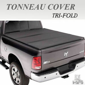 Lock Tri fold Hard Solid Tonneau Cover Fits 2004 2006 Chevy Silverado 5 8ft Bed